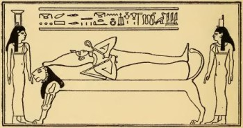 Isis and Nephtys over Osiris